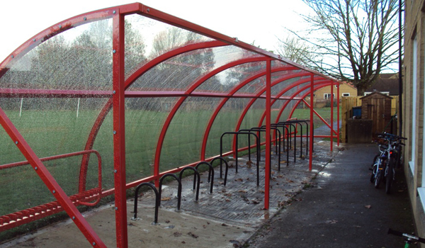 red cycle shelter